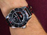 klasyczny Zegarek srebrny Vostok Europe N1 Rocket NE57-225A563 Rocket N-1 Automatic - duże 6