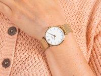 klasyczny Zegarek złoty Cluse Minuit CW0101203007 Mesh Gold/White - duże 6