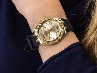 klasyczny Zegarek złoty Guess Pasek GW0034L1 - duże 6