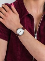 kwarcowy Zegarek damski Bisset Klasyczne BSAE58SISR03BX - duże 5