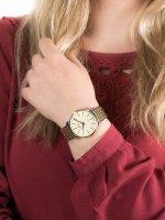 kwarcowy Zegarek damski Bisset Klasyczne BSBE54TIGX03B1 - duże 5