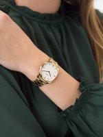 kwarcowy Zegarek damski Cluse Feroce Gold White CW0101212005 - duże 5