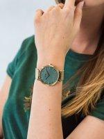 kwarcowy Zegarek damski Cluse La Boheme Gold Stone Green CW0101201027 - duże 5