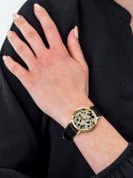 kwarcowy Zegarek damski Cluse La Roche Petite Gold Dalmatian/Black CL40105 - duże 5