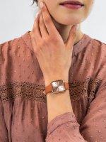 kwarcowy Zegarek damski Cluse La Tetragone Rose Gold/Butterscotch CW0101207008 - duże 5