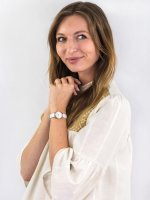 kwarcowy Zegarek damski Cluse La Vedette Rose Gold White/White CL50030 - duże 4