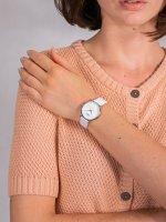 kwarcowy Zegarek damski Cluse Minuit La Perle Silver White Pearl/White  CL30060 - duże 5