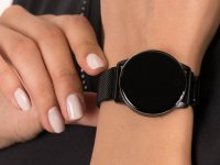 Garett 5903246286359 Smartwatch Garett Lady Bella czarny stalowy zegarek sportowy Damskie