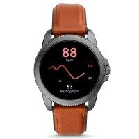 zegarek Fossil Smartwatch FTW4055 kwarcowy męski Fossil Q GEN 5E SMARTWATCH - BROWN LEATHER