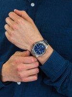 kwarcowy Zegarek męski Casio EDIFICE Momentum Slim Sapphire Chrono  EFR-S567D-2AVUEF - duże 5