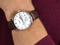 Cluse CW0101502002 Aravis chrono leather rose gold white/dark brown zegarek fashion/modowy Aravis