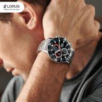 Lorus RM333FX9 zegarek srebrny sportowy Sportowe bransoleta