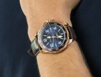 kwarcowy Zegarek męski Nautica Pasek Pilot House Navy Dial Leather Watch NAPPLH003 - duże 6
