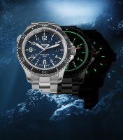 Traser TS-109373 P67 SuperSub Blue Special Set P67 SuperSub sportowy zegarek srebrny
