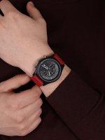 Lorus RM393GX9 zegarek czarny sportowy Sportowe pasek