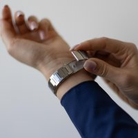 Meller 11PN-3.2SILVER zegarek męski klasyczny Nairobi bransoleta
