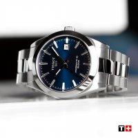 Tissot T127.407.11.041.00 zegarek męski klasyczny Gentleman bransoleta