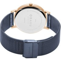 Obaku Denmark V248GXVLML zegarek różowe złoto klasyczny Slim bransoleta