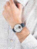 Carl von Zeyten CVZ0053WH męski zegarek Bonndorf pasek