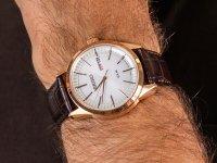 Seiko SNE530P1 Solar Classic Sapphire Day-Date 100m zegarek klasyczny Solar