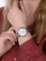Michael Kors MK5353 zegarek srebrny fashion/modowy Parker bransoleta