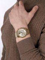 Michael Kors MK8281 zegarek złoty fashion/modowy Lexington bransoleta