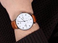 Obaku Denmark V190GDCWRZ zegarek srebrny klasyczny Slim pasek