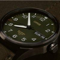 Oris 01 752 7760 4287-SET zegarek srebrny klasyczny Big Crown ProPilot pasek