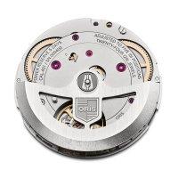 Oris 01 771 7744 3185-SET LS zegarek srebrny klasyczny Diving pasek