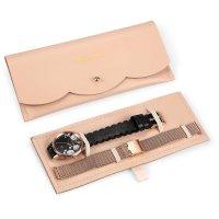 OUI  ME ME010241 zegarek różowe złoto klasyczny Fleurette pasek