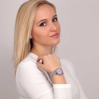 OUI  ME ME010282 zegarek srebrny klasyczny Coquette bransoleta