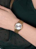 QQ S397-001 zegarek złoty klasyczny Damskie bransoleta