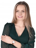 QQ S399-011 zegarek różowe złoto klasyczny Damskie bransoleta