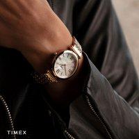 Timex TW2T79200 zegarek różowe złoto klasyczny Parisienne bransoleta