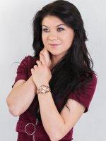 Michael Kors MK5799 zegarek różowe złoto fashion/modowy Mini Bradshaw bransoleta