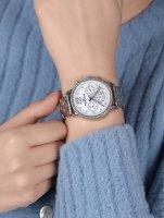 Rubicon RNBD10SISX03AX zegarek srebrny sportowy Bransoleta bransoleta