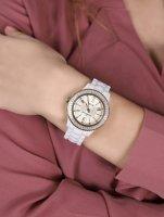 Rubicon RNPD25TWGX03BX zegarek biały klasyczny Bransoleta bransoleta