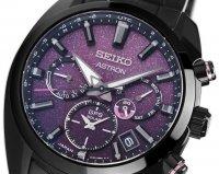 Seiko SSH083J1 zegarek czarny sportowy Astron bransoleta