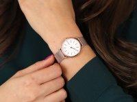 Skagen SKW2694 zegarek różowe złoto klasyczny Signatur bransoleta
