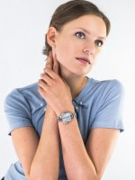 smartwatch srebrny elegancki Casio Sheen SHB-200D-7AER bransoleta - duże 4