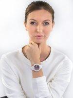 sportowy Zegarek biały Casio Baby-G BSA-B100MF-7AER - duże 4