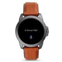 Fossil Smartwatch FTW4055 GEN 5E SMARTWATCH - BROWN LEATHER Fossil Q sportowy zegarek szary