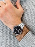 sportowy Zegarek srebrny Casio EDIFICE Momentum EFR-505D-1AVEF - duże 5