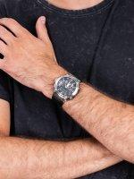 sportowy Zegarek srebrny Casio G-SHOCK G-STEEL GST-B200-1AER - duże 5
