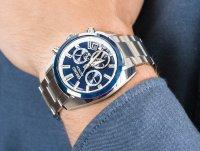 sportowy Zegarek srebrny Seiko Astron SSH045J1 Astron GPS Solar Novak Djokovic 2020 Limited Edition - duże 6