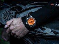 Traser TS-109381 P67 SuperSub Orange P67 SuperSub sportowy zegarek srebrny
