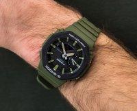 sportowy Zegarek zielony Casio G-Shock GA-2110SU-3AER - duże 6
