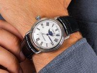 srebrny Zegarek Aerowatch 1942 77983-AA01 - duże 6