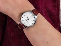 srebrny Zegarek Bisset Klasyczne BSAE58SISR03BX - duże 6