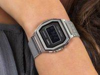 srebrny Zegarek Casio Vintage A1000M-1BEF - duże 6